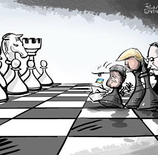 من يقف وراء استفزازت بوروشينكو ضد روسيا