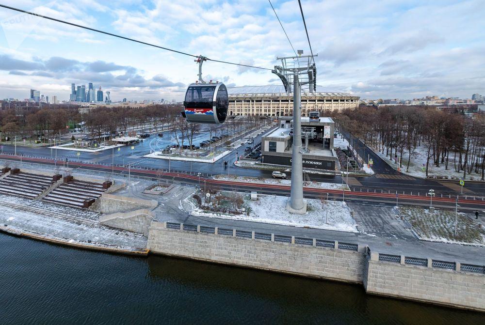 افتتاح تلفريك فوروبيوفي غوري في موسكو