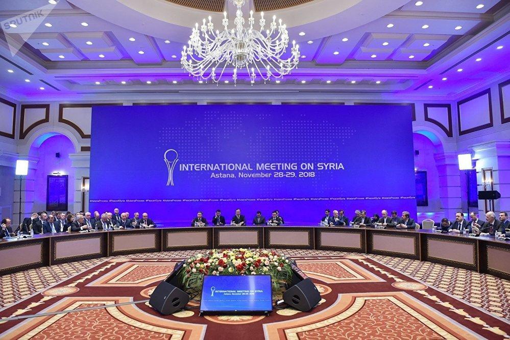 محادثات أستانا حول سوريا، كازاخستان 29 نوفمبر/ تشرين الثاني 2018