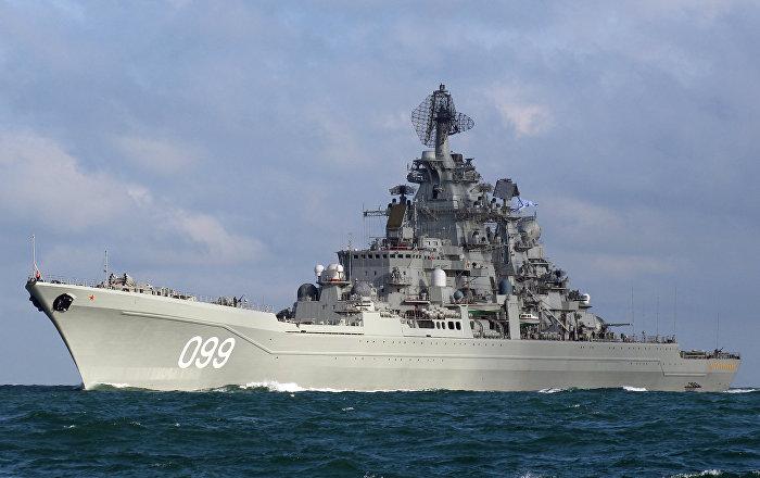 """الطراد الصاروخي """"بطرس الأكبر"""" يستعد للخروج إلى بحر بارنتس"""