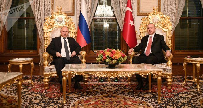 الرئيس الروسي فلاديمير بوتين يلتقي بالرئيس التركي رجب طيب أردوغان في اسطنبول، 19 نوفمبر/ تشرين الثاني 2018