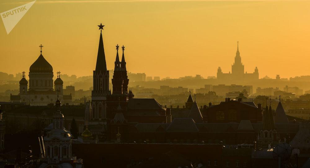 منظر يطل على العاصمة الروسية موسكو