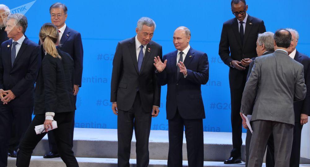 الرئيس الروسي فلاديمير بوتين في قمة مجموعة العشرين