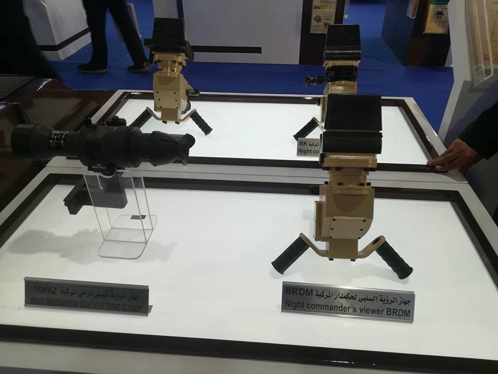 أجهزة مراقبة تنتجها الشركة العربية للبصريات في معرض إيديكس 2018 في مصر египетская оптика