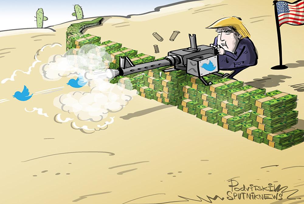ترامب يخفض تكلفة بناء الجدار مع المكسيك من 5 مليارات إلى 25 مليون دولار