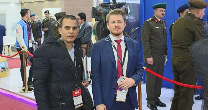 رئيس الشركة المنظمة لمعرض إيديكس 2018 مع مراسل سبوتنيك