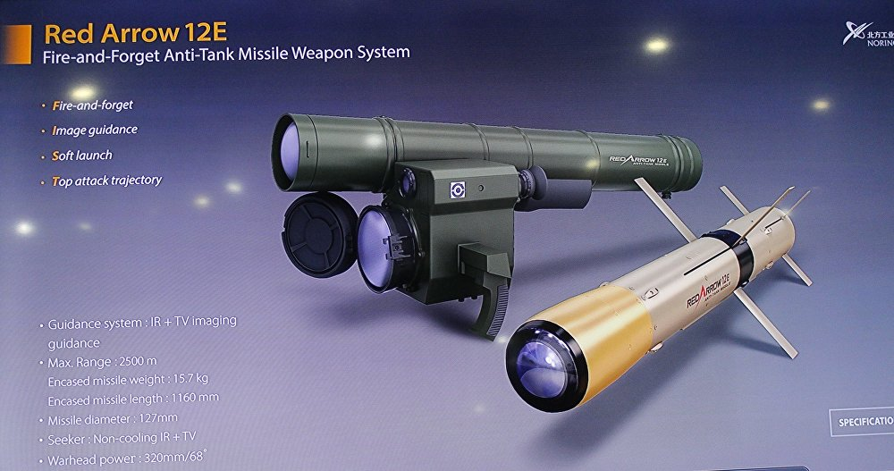 صاروخ السهم الأحمر الصيني المضاد للدبابات في إيديكس 2018 في مصر