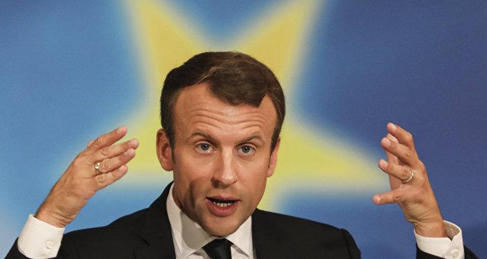 الرئيس الفرنسي إيمانويل ماكرون