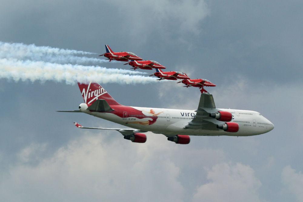طائرات لشركة الطيران Virgin البريطانية