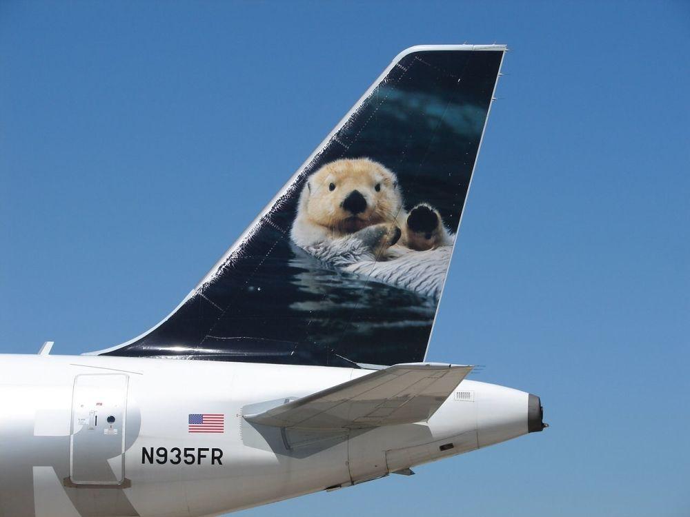 طائرة لشركة الطيران  Frontier Airlines الأمريكية