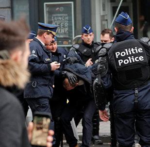 اعتقال متظاهري السترات الصفراء في بلجيكا