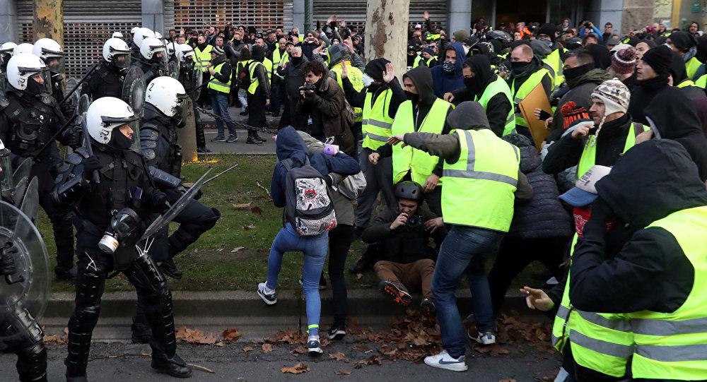 السترات الصفراء في بلجيكا