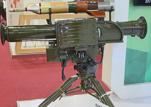 صاروخ بيكتار شيكان الباكستاني المضاد للدبابات في إيديكس 2018