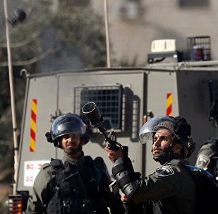 الشرطة الإسرائيلية - شرطة الحدود الإسرائيلية - اشتباكات مع الفلسطينيين في رام الله، الضفة الغربية 10 ديسمبر/ كانون الأول 2018