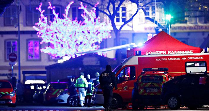 الشرطة الفرنسية في محيط منطقة إطلاق النار في ستراسبورج