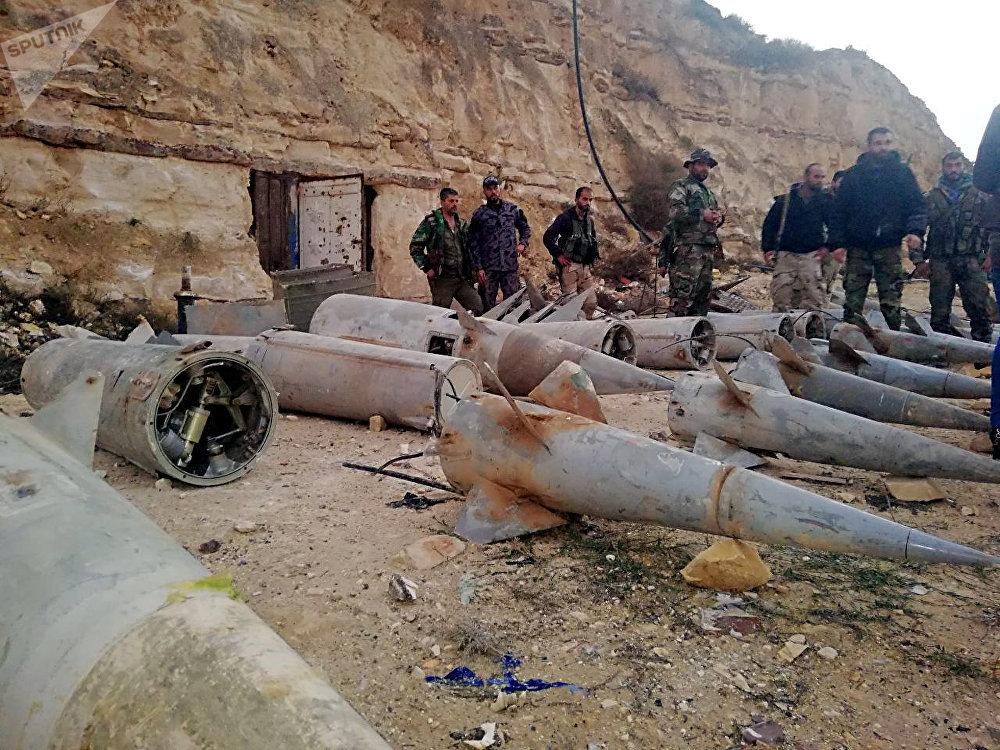 الأمن السوري يضبط صواريخ (أرض جو) قرب الأراضي الأردنية ракеты «земля-воздух»
