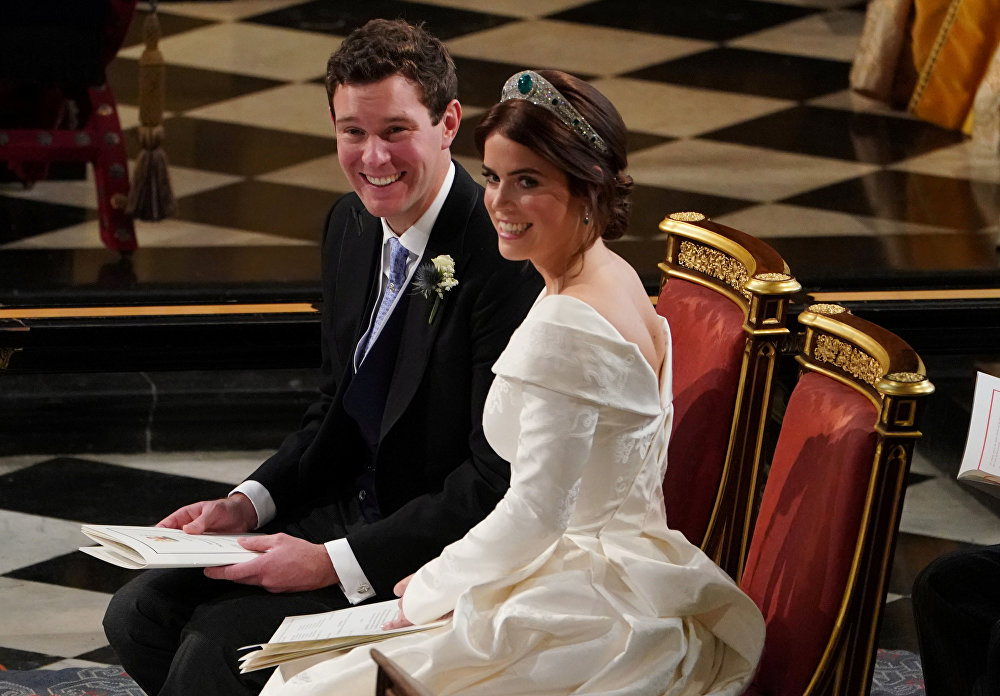 حفل زفاف الأميرة يوجيني حفيدة الملكة إليزابيث في قلعة وندسور، بريطانيا 12 أكتوبر/ تشرين الأول 2018