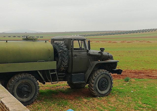 مواقع الجيش السوري بمحيط تل بزام بالقرب من مدينة صوران شمال حماة