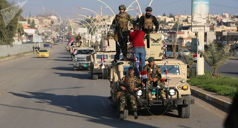 الأسود تحمي مدينة عراقية محررة من داعش