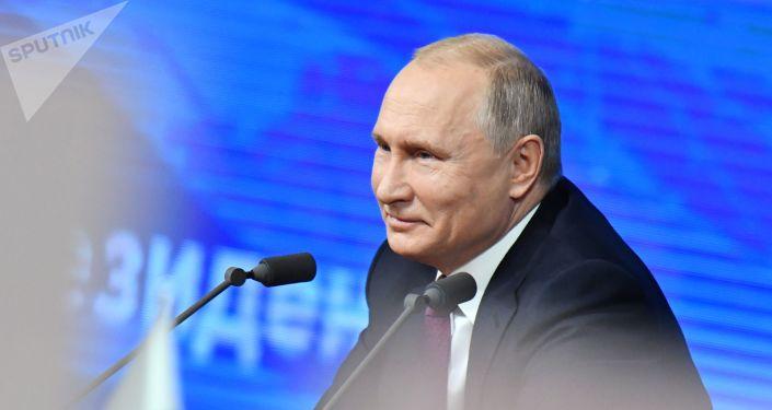 المؤتمر الصحفي السنوي للرئيس الروسي فلاديمير بوتين في موسكو، 20 ديسمبر/ كانون الأول 2018