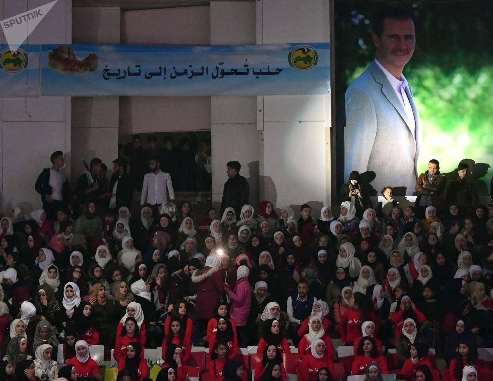 الاحتفال بالذكرى الثانية لتحرير حلب من المسلحين