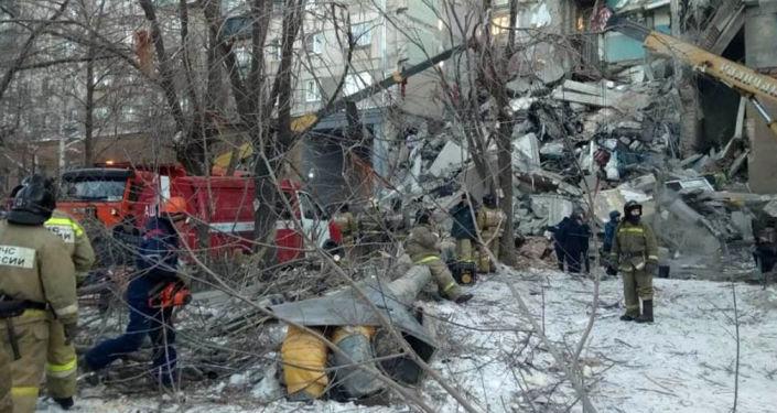 انفجار في مبنى سكني بمدينة ماغنيتاغورسك