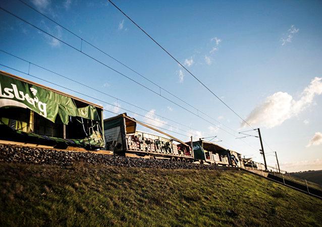 حادث تصادم قطار في الدنمارك