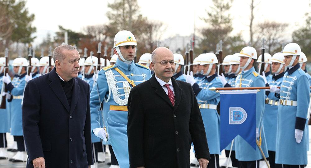 الرئيسان العراقي والتركي