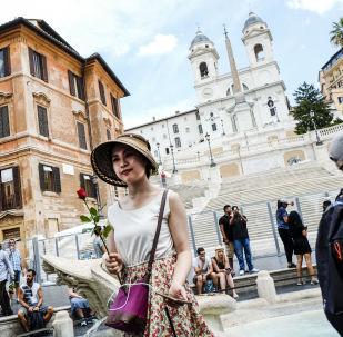 الدرج الإسباني (أو السلالم الإسبانية) في روما، إيطاليا