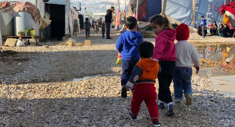 مخيم للاجئين السوريين في برالياس، لبنان