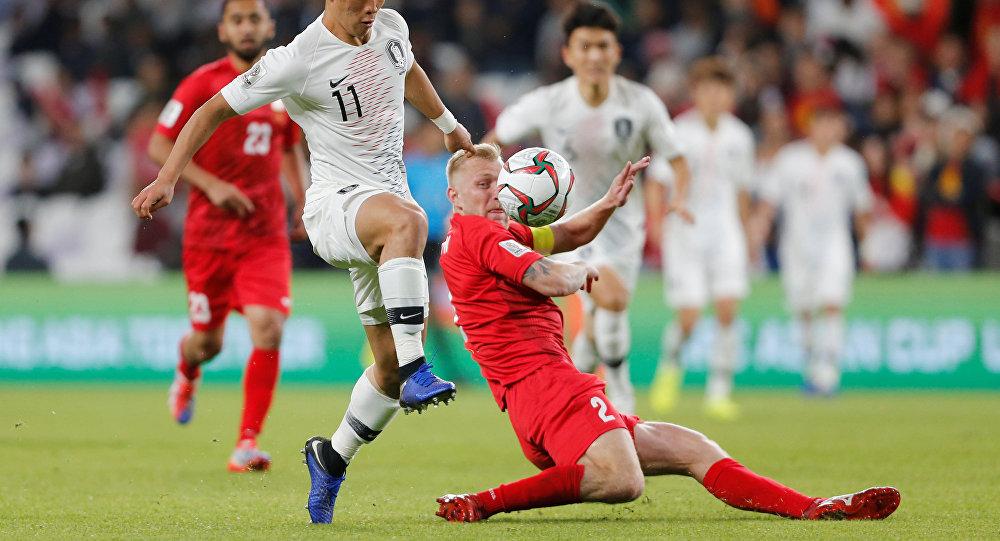 من مباراة كوريا الجنوبية مع قيرغيستان في كأس آسيا 2019