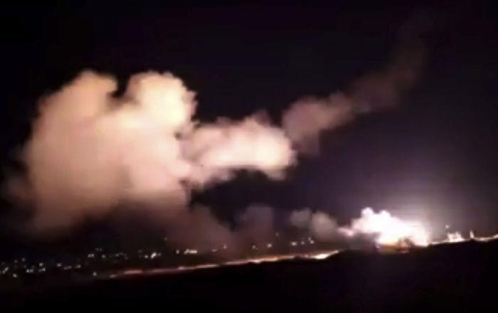 فيديو-يظهر-صد-الهجوم-الصاروخي-الإسرائيلي-على-محيط-دمشق