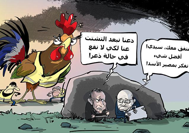 موقف جديد من الديك الفرنسي تجاه الأسد السوري!