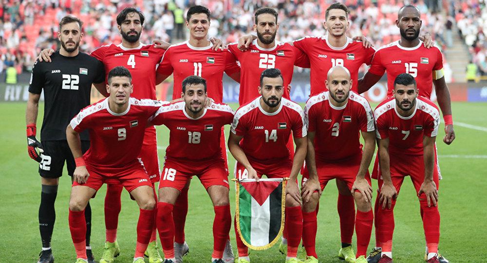 تشكيل المنتخب الفلسطيني في إطار بطولة كأس أمم آسيا 2019، في ملعب محمد بن زايد، أبو ظبي، الإمارات العربية المتحدة، 15 يناير / كانون الثاني 2019