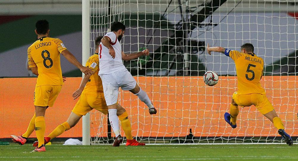 مباراة أستراليا وسوريا في إستاد خليفة بن زايد بكأس آسيا