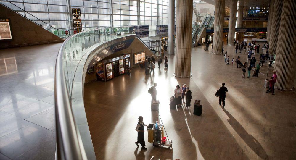مطار بن غوريون الدولي في تل أبيب، إسرائيل 14 أبريل/ نيسان 2012