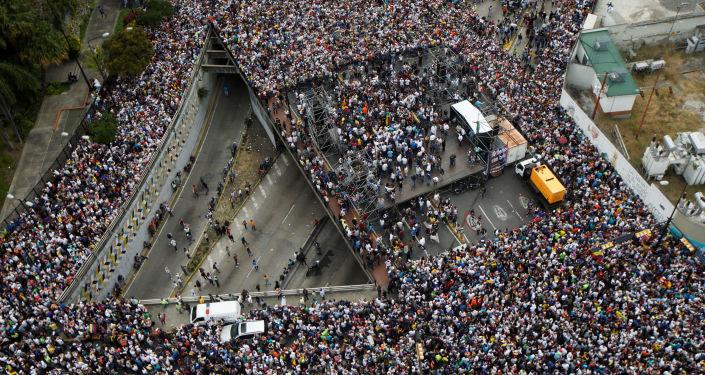 مظاهرات في كاراكاس، فنزويلا 23 يناير/ كانون الثاني 2019