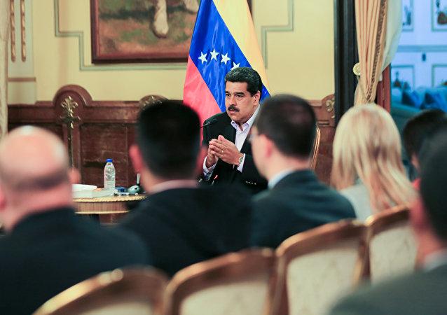 الرئيس الفنزويلي نيكولاس مادورو، كاراكاس، فنزويلا 28 يناير/ كانون الثاني 2019