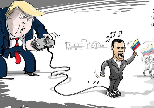 الولايات المتحدة الأمريكية تدير المعارضة الفنزويلية