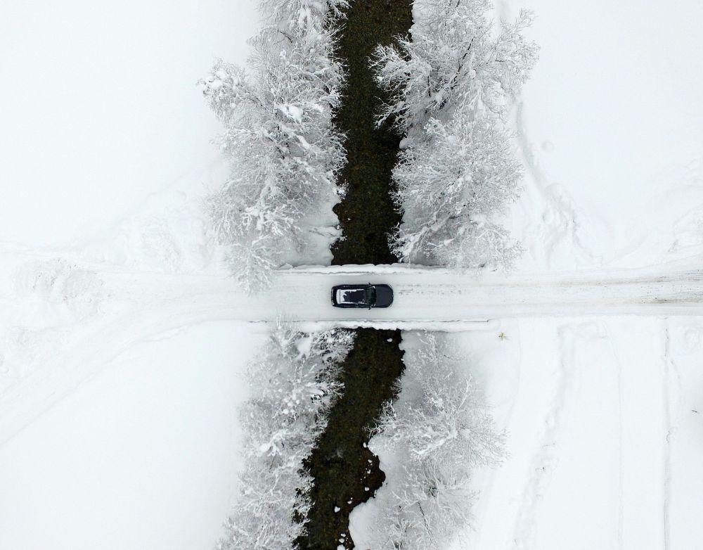 جسر مغطى بالثلوج في أنترتورن، النمسا 9 يناير/ كانون الثاني 2019