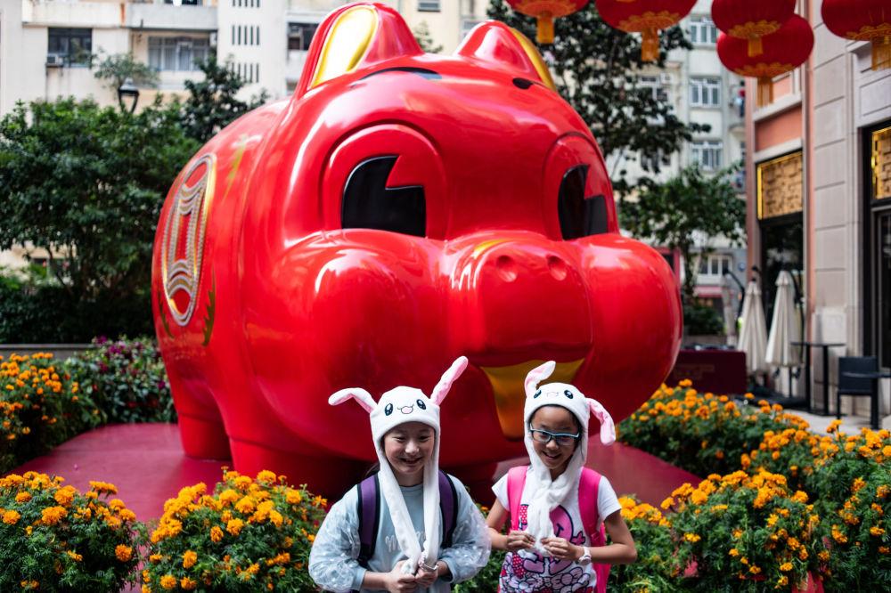 الاحتفال برأس السنة القمرية الصينية الجديدة في تشاينا تاون في هونغ كونغ، 4 فبراير/ شباط 2019