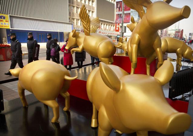 الاحتفال برأس السنة القمرية الصينية الجديدة في بكين، الصين 4 فبراير/ شباط 2019