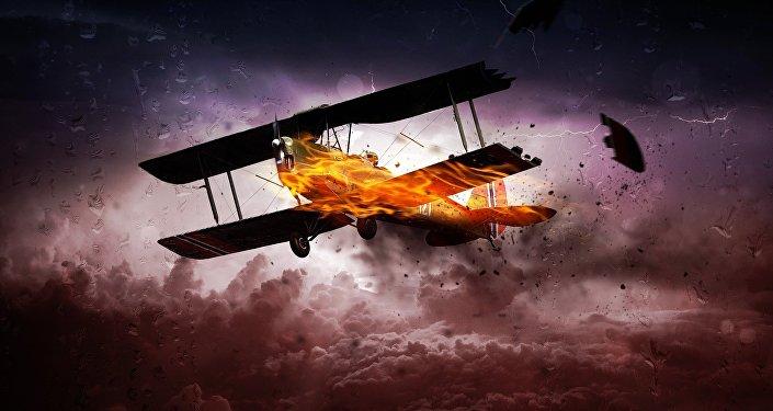طائرة فوق مثلث برمودا