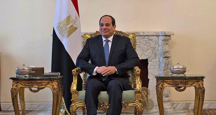 الرئيس المصري عبد الفتاح السيسي خلال لقائه مع وزير الخارجية الأمريكي مايك بومبيو في القاهرة