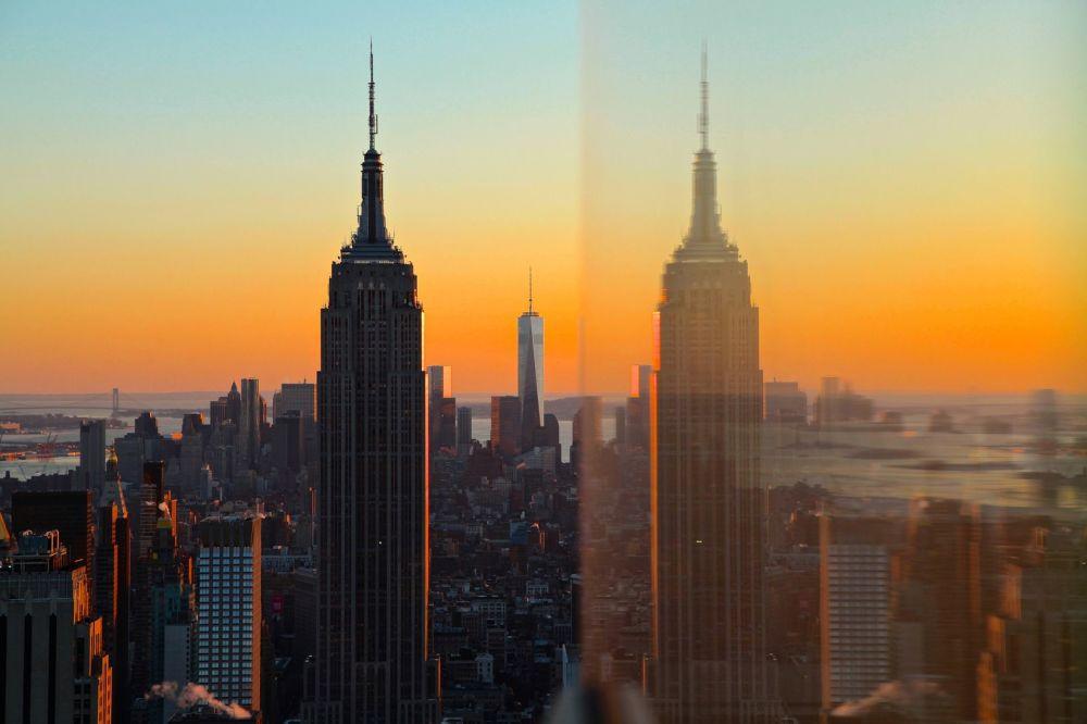 منظر يطل على برج إمباير ستيت بيلدينغ في نيويورك
