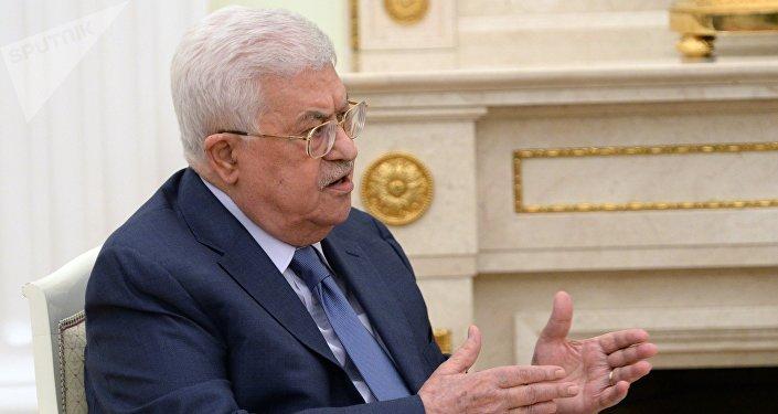 الرئيس الفلسطيني محمود عباس في موسكو، 14 يوليو/ تموز 2018 (صورة أرشيفية)