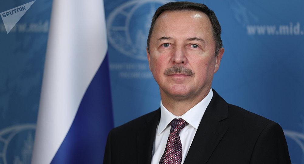 سفير روسيا الاتحادية إلى سوريا الكسندر يفيموف، في دمشق
