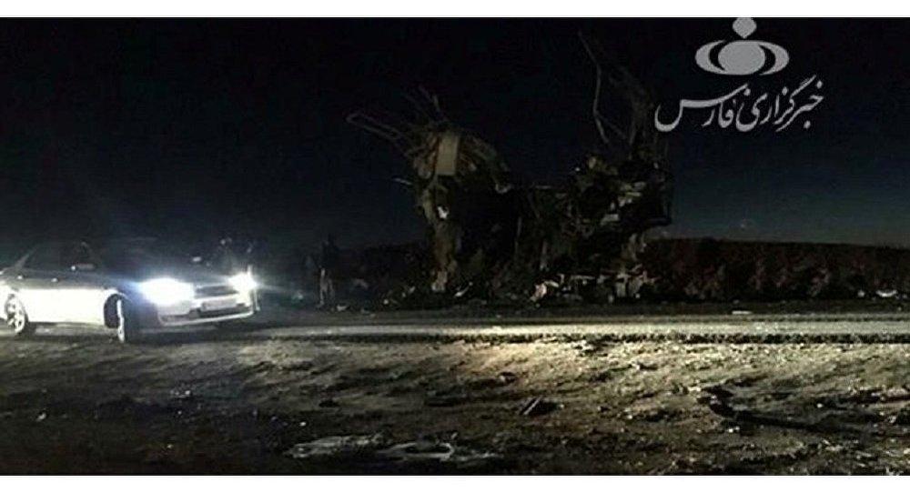 مكان استهداف حافلة تقل عناصر من الحرس الثوري الإيراني بعملية إرهابية