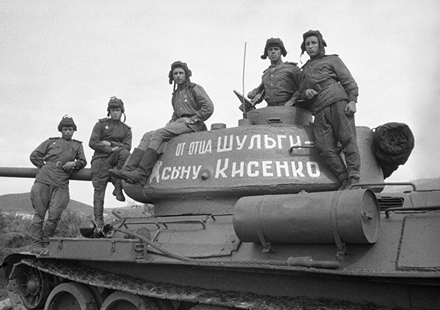 إحدى دبابات الجيش الأحمر