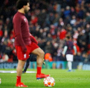 محمد صلاح في مباراة ليفربول وبايرن ميونخ في دوري أبطال أوروبا